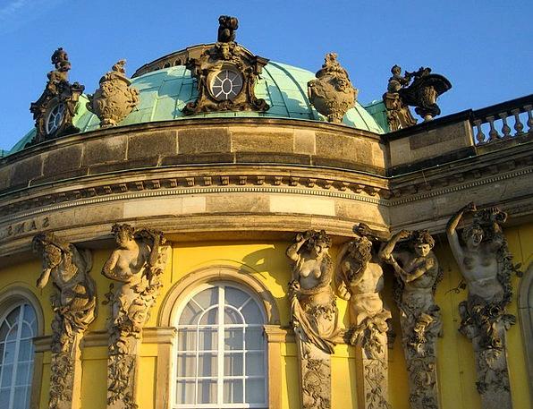 Closed Sanssouci Monuments Places Facade Frontage