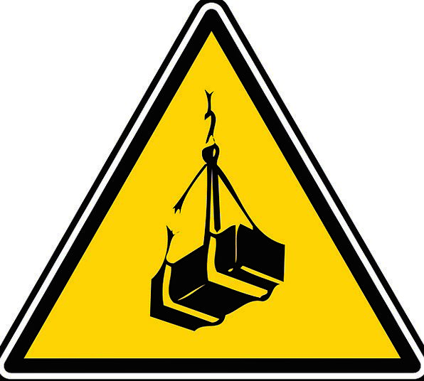 Sign Lifting Exciting Heavy Object Rope Hazard Danger Symbol