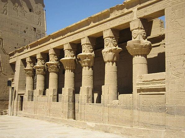 Aswan Nile Horus Temple Egypt Columnar