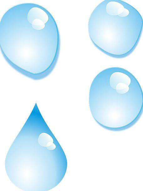 Water Aquatic Droplet Rain Volley Drop Free Vector