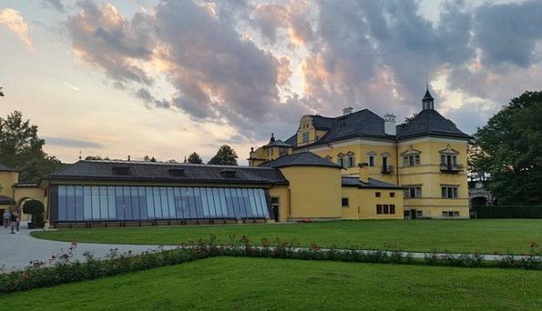 Schloss Hellbrunn Buildings Architecture Dusk Twil