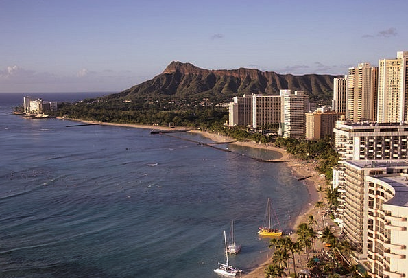 Waikiki Beach Vacation Travel Hawaii Honolulu Wate