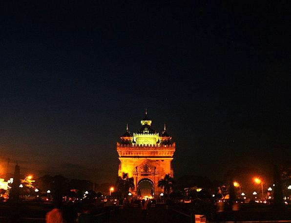 Patuxai Monument Buildings Architecture Laos Vient
