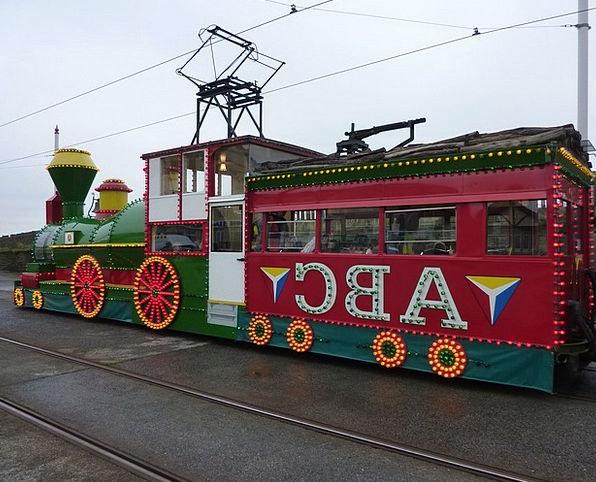 Tram Floodlit Train Pullman Illuminated Seaside Co