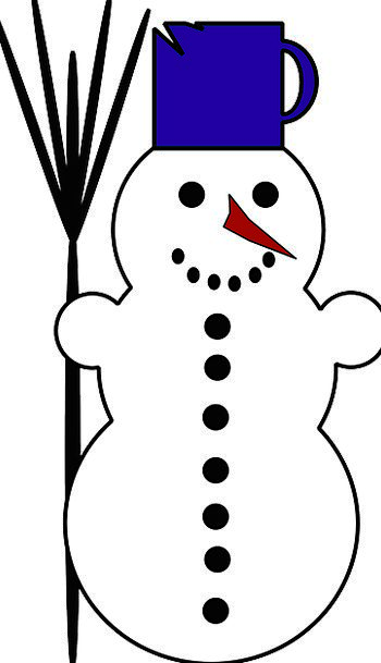 Snowman Incentive Nose Muzzle Carrot January Broom