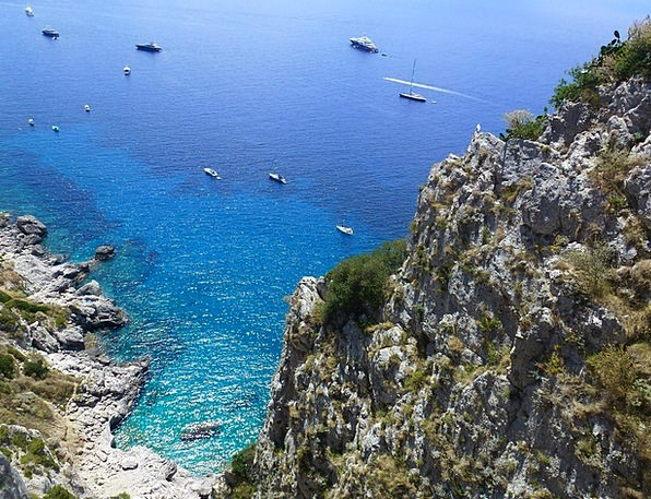 Capri Azure A Sea Of Blue Falls From A Height