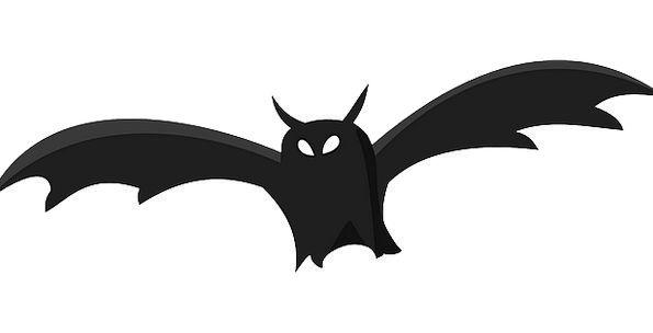 Bat Racket Outline Black Silhouette Cemetery Anima