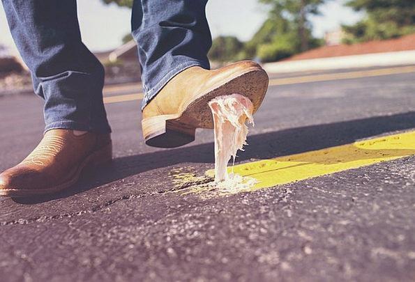 Bubble Gum Traffic Transportation Glue Adhesive Sh
