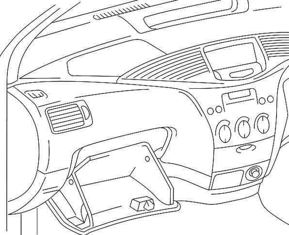 Dashboard Console Dash Sprint Glove Box Car Radio