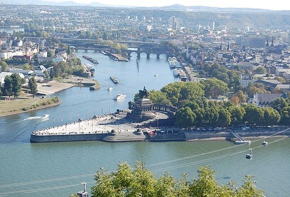German Corner Buildings Architecture Rhine Koblenz