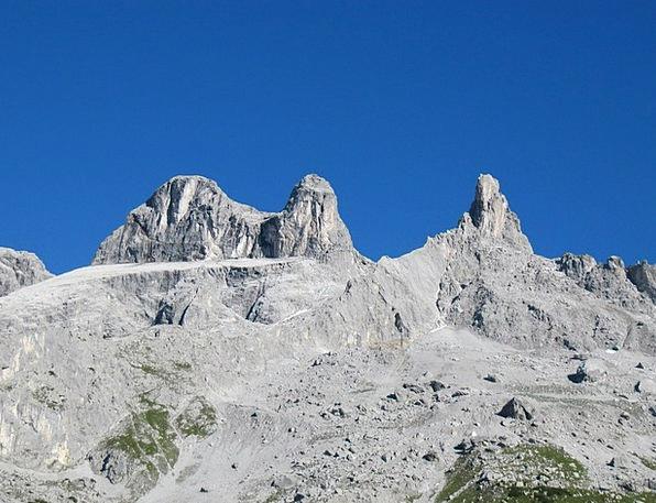 Three Towers Vorarlberg Montafon Austria Alpine Ro