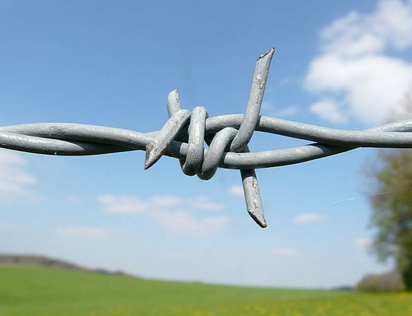 Barbed Wire Barrier Barbed Wire Fence Fence Metal
