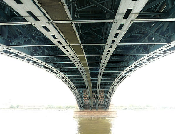 Bridge Bond Buildings Architecture Metal Rods Stee