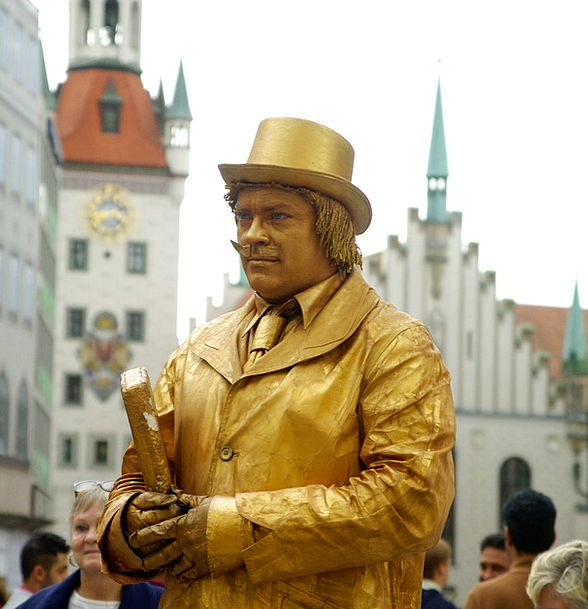 Mime Represent Bavaria Munich Gold Gilded