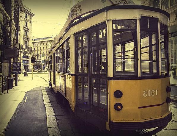Miland Buildings Architecture Tram Italy City Urba