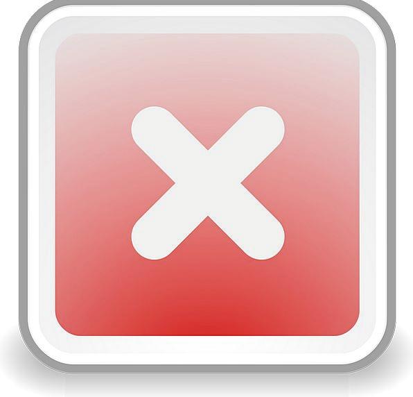 Cancel Terminate Stop Halt Abort Delete Erase Icon