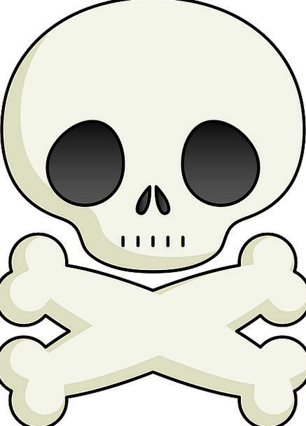 Skull And Crossbones Ciphers Signs Symbols Icon Wh