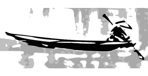 Boat Ship Paddling Black Dark Rowing White Snowy R