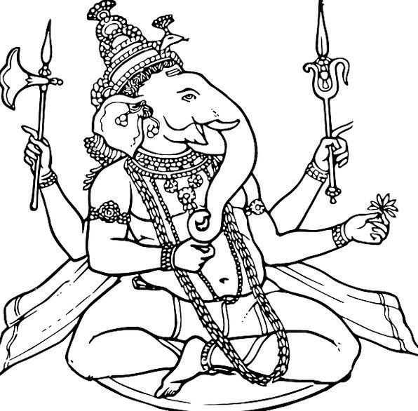 Ganesha Draft Draw Attraction Sketch God Deity Hin