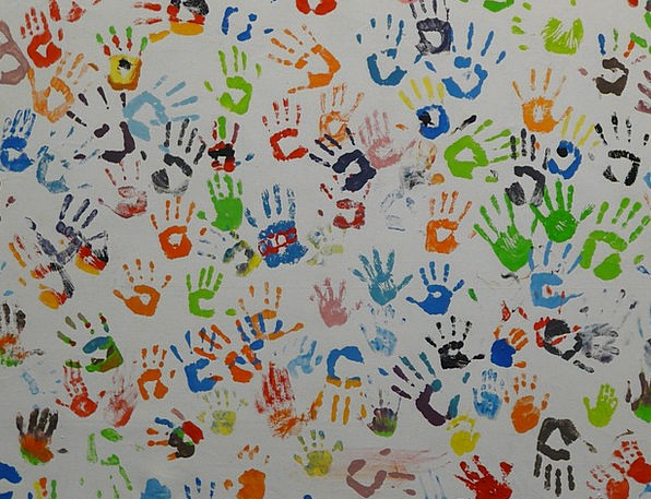 Hands Pointers Hue Mural Fresco Color Reprint Reis