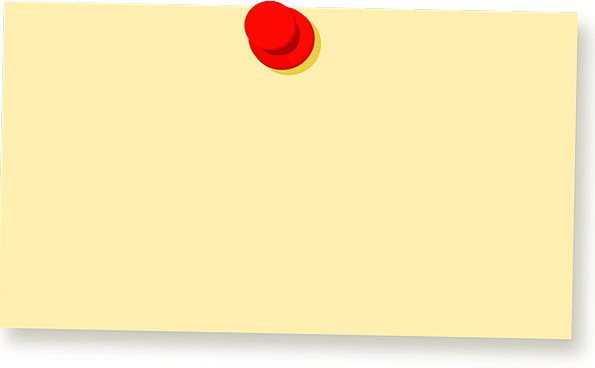 Blank Memos | Note Letter Jot Paper Newspaper Pin Isolated Notice Sign