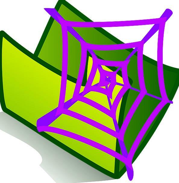 Web Mesh Folder Binder File Green Lime Free Vector