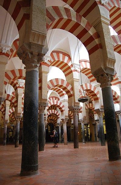Cordoba Columns Pillars Mosque Archi Spain Andalus