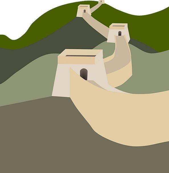 Great Wall Landscapes Porcelain Nature Long Extend