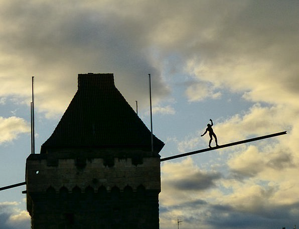 Esslingen Gymnast Afterglow Warmth Acrobat Castle
