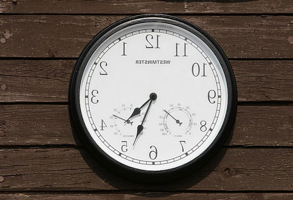 Clock Timepiece Outside Time Period Outdoor