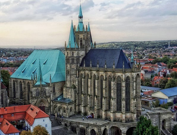 Erfurt Cathedral Germany Religion Church Ecclesias