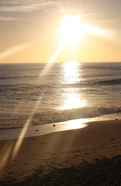 Biarritz Vacation Seashore Travel Sunset Sundown B