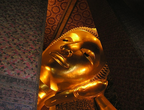 Buddha Skull Gold Gilded Head Huge Enormous So Lar
