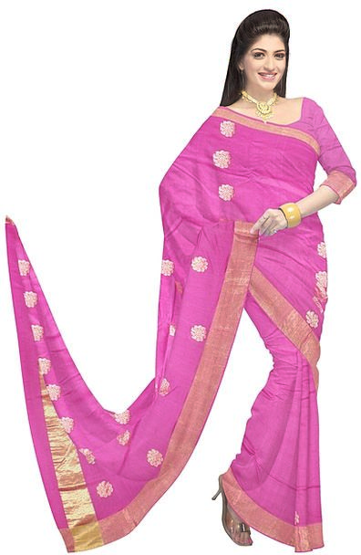 Saree Fashion Style Beauty Silk Fashion Pink Dress