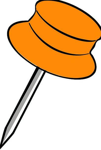 Orange Pin Jot Pushpin Pin Thumbtack Office Suppli