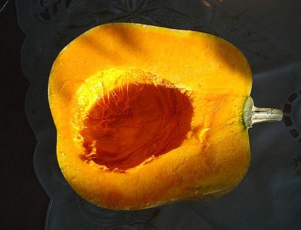 Squash Squeeze Partial Pumpkin Half Vegetables Pot