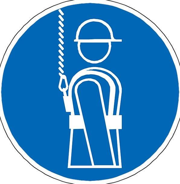 Harness Yoke Blue Azure Fall Prevention Gear Sign