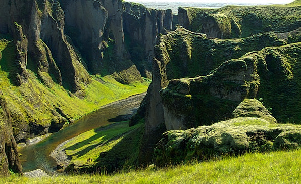 Iceland Gorge Gorges Valleys Canyon Torrent Gush B