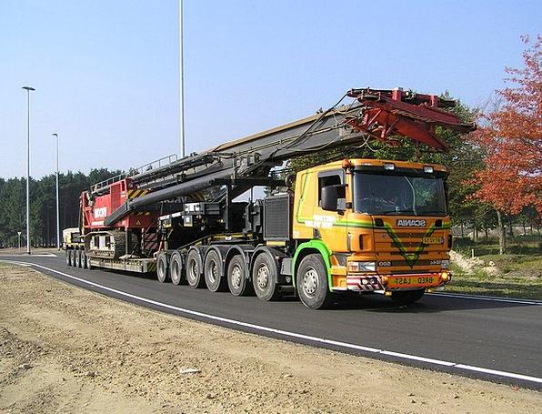 Heavy Transport Traffic Car Transportation Scania