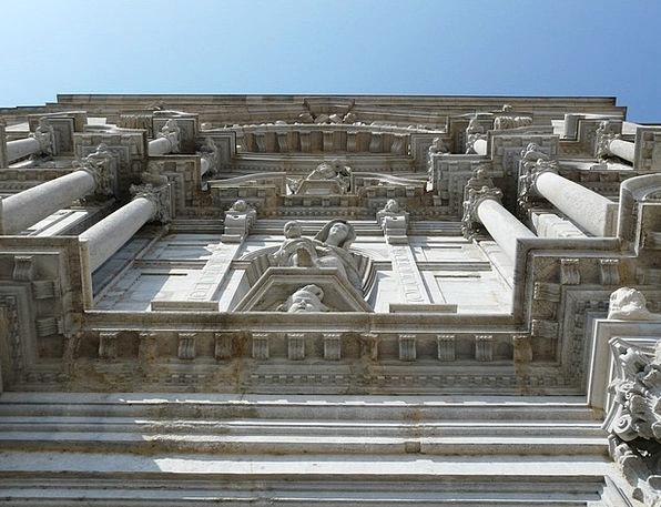 Facade Frontage Buildings Architecture Santa Maria