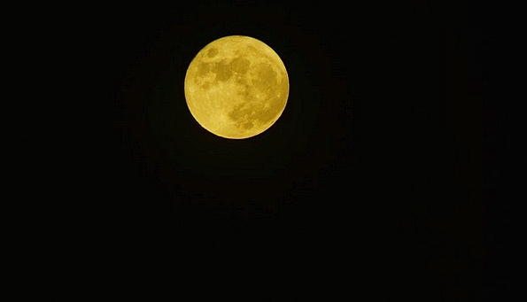 Full Moon Landscapes Nightly Nature Sky Blue Night
