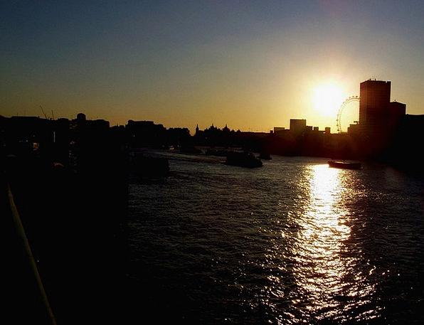 Sunset Sundown Vacation Travel River Stream Thames