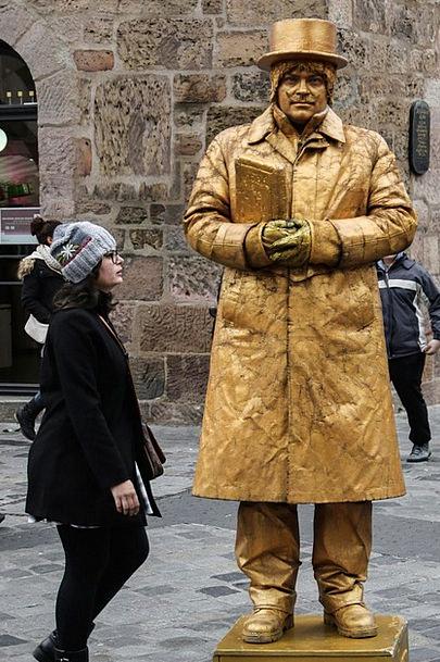 Pantomime Farce Gold Gilded Nuremberg Fig Golden A