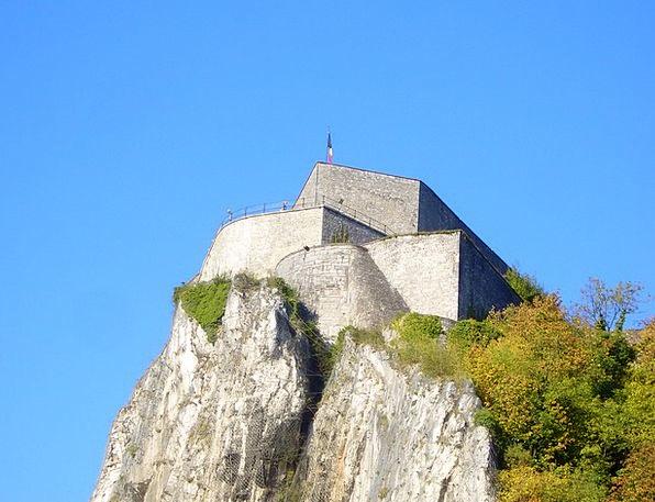 Dinant Stronghold Belgium Fortress Rock Pillar Old