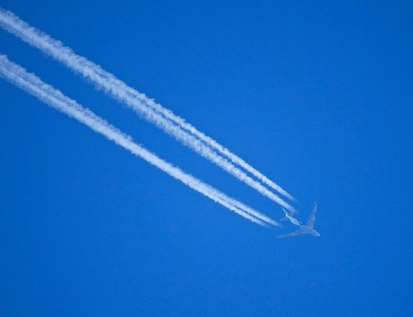 Contrail Airplane Flight Tracks Aircraft Airline T