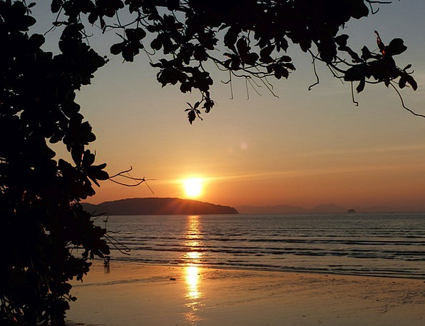 Sunset Sundown Vacation Travel Krabi Ao Nang Beach