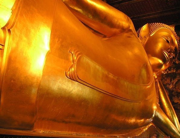 Buddha Gilded Huge Enormous Gold Large Big Thailan