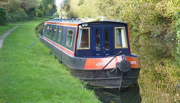 Narrowboat Waterway England Canal Canal Boat