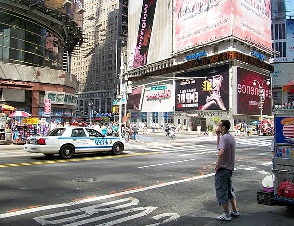 Times Square Traffic Transportation Midtown Manhat