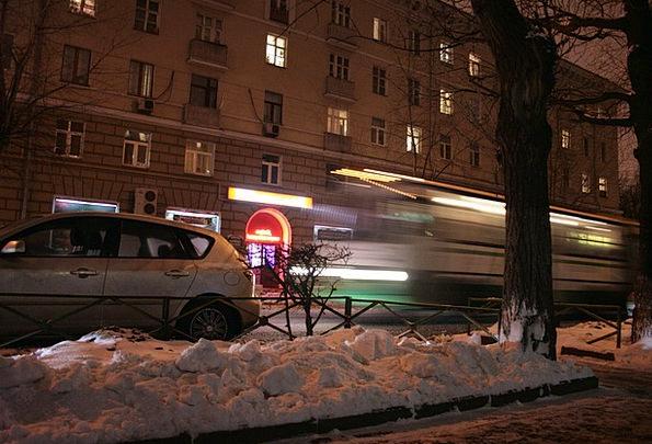 Bus Car Buildings Gesture Architecture Blur Distor